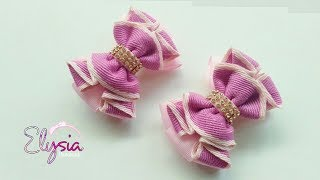Laço Mallika Mini II 🎀 Ribbon Bow Tutorial 🎀 DIY by Elysia Handmade