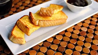 Eggnog French Toast Sticks And Brown-butter Maple Syrup