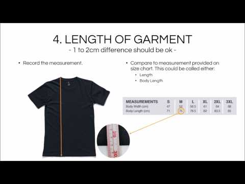 How To Work Out Your Garment Size From Size Chart