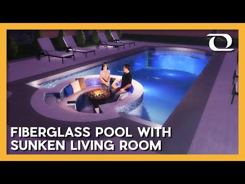 The World's First Sunken Living Room Fiberglass Pool