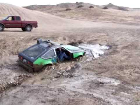 AMC Eagle in mudhole at Hungry Valley (Gorman)