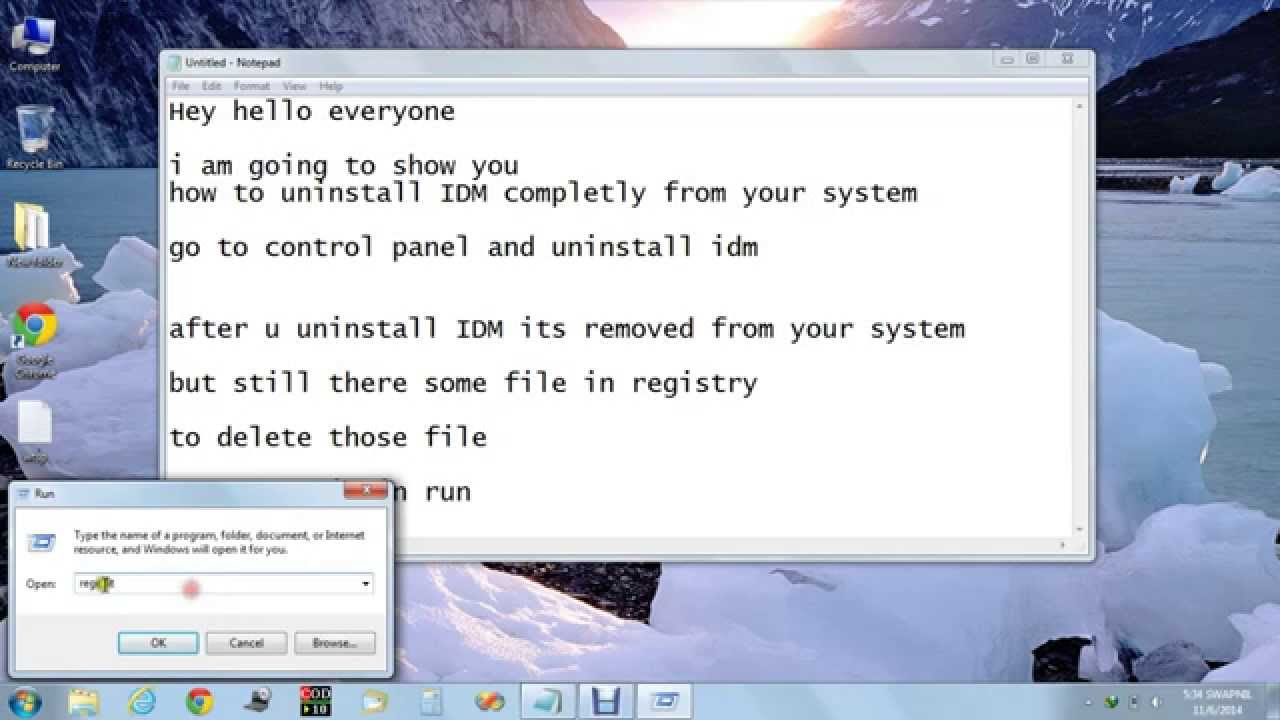 how to delete all idm completely from pc