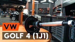 Hoe een veerpoot vooraan vervangen op een VW GOLF 4 (1J1) [AUTODOC-TUTORIAL]
