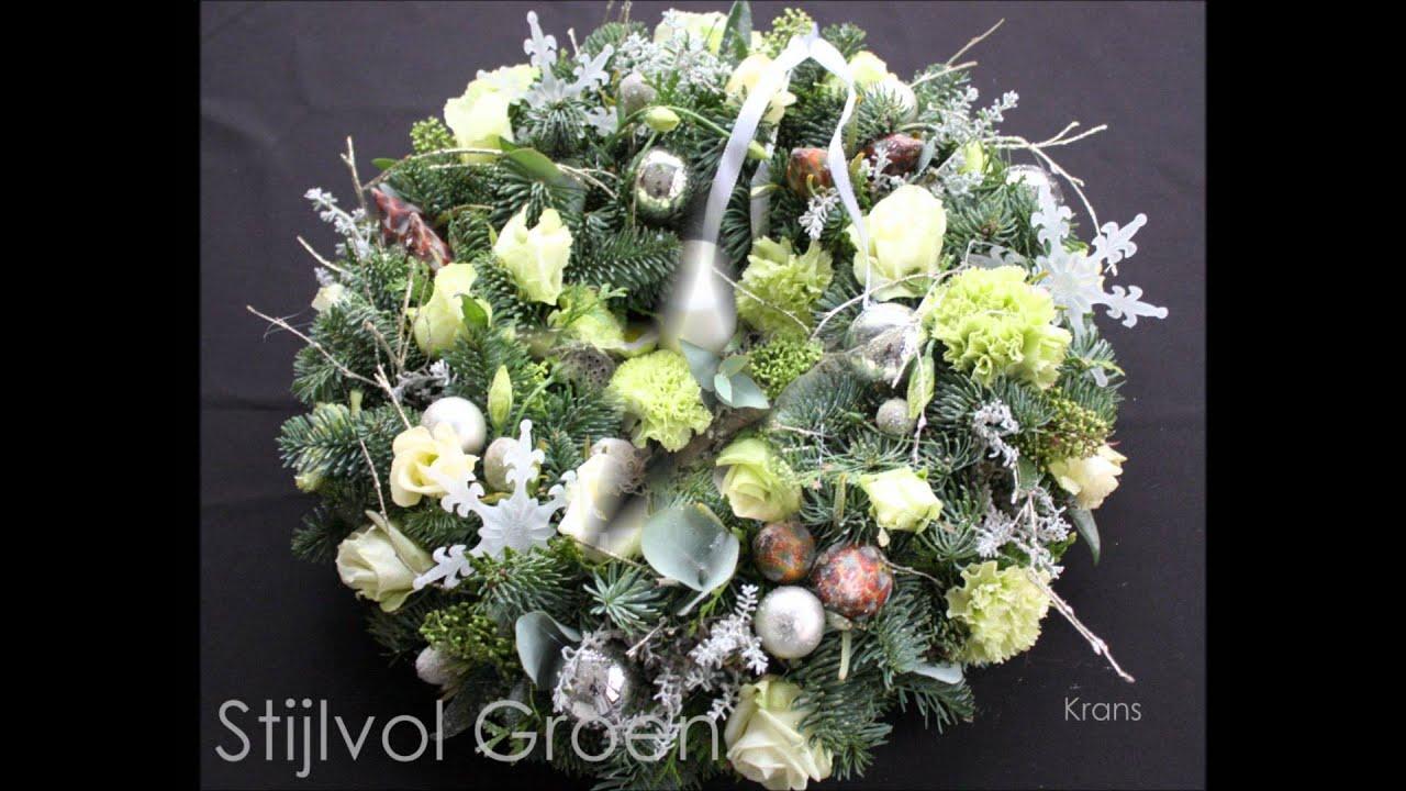 Kerst bloemstukken Stijlvol Groen - YouTube