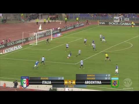 Lorenzo Insigne Great goal Italy Argentina 1-2 HD 14.08.2013 Friendly international game