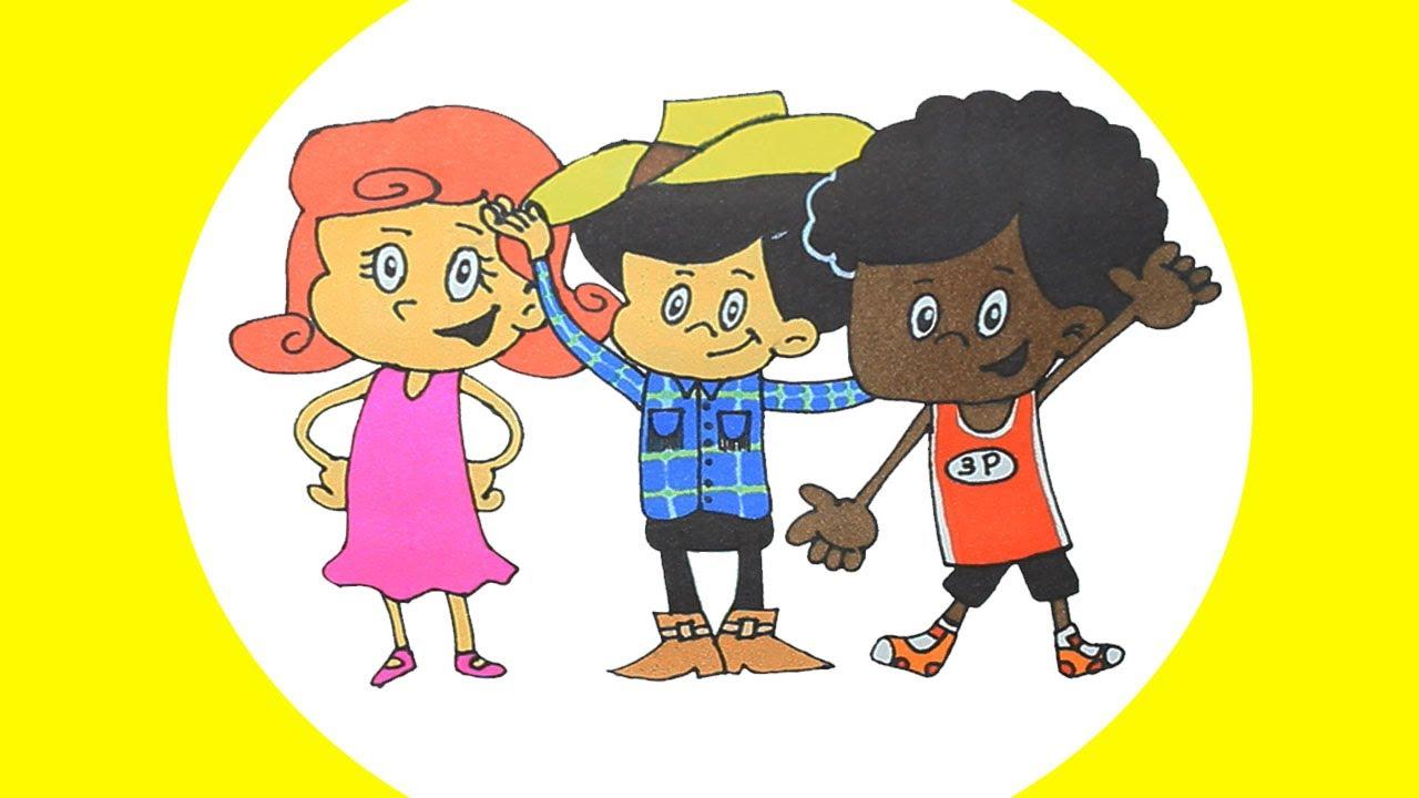 3 palavrinhas 😊 desenho animado com músicas infantis ❤ desenhos coloridos para crianças.