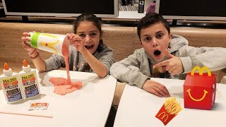 Make Slime in McDonald's Challenge! kids fun videos