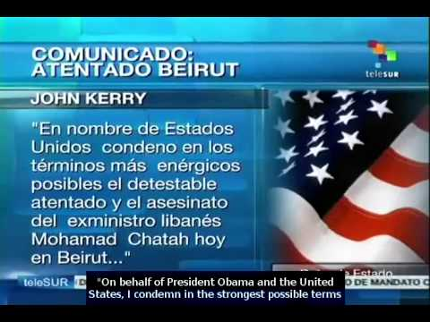 John Kerry condemns attack in Beirut, Lebanon