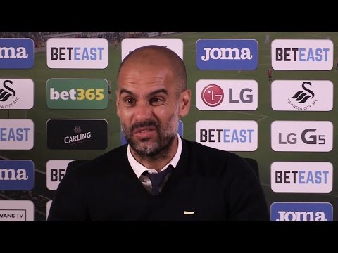 Swansea 1-3 Man City - Pep Guardiola Post Match Press Conference - Embargo Extras