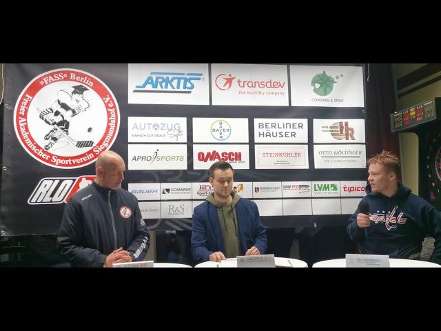 Pressekonferenz FASS Berlin Vs Dresdner Eislöwen Juniors