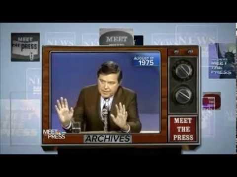 "U.S. Senator Frank Church Warns of Government Surveillance on ""MEET THE PRESS"" 1975"