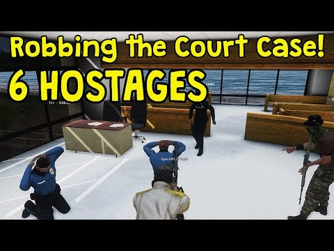 Arma 3 Project Life - Robbing the Court Case (6 Hostages)