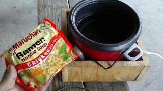 Budget Cooking - How To Cook From Ramen to Lo Mein - Living In A Van (V219) Minimalist Cooking