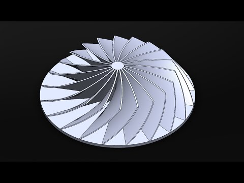 Fast Easy Way to make Compressor/Turbine in SolidWorks|JOKO ENGINEERING|