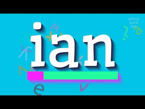 "How to say ""ian""! (High Quality Voices)"