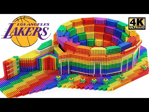 Most Creative - How To Build Basketball Stadium From Magnetic Balls (Satisfying & Relax)