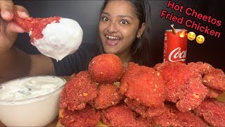 CRISPY HOT CHEETOS FRIED CHICKEN WITH MAYONNAISE 🍗 EATING SOUNDS | BIG BITES | FOOD EATING VIDEOS