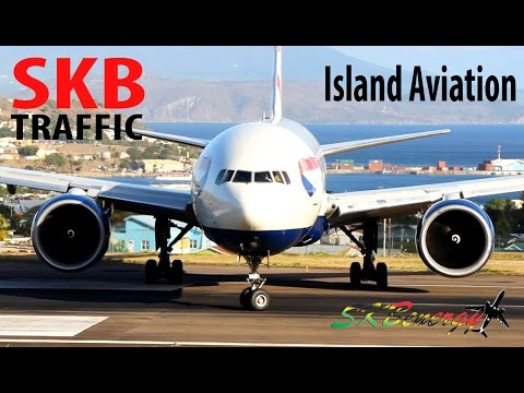 Busy Afternoon !!!!, BA 777, AA 737, DA 737, US A319, LIA ATR 72..@ St. Kitts R.L.B Int'l Airport