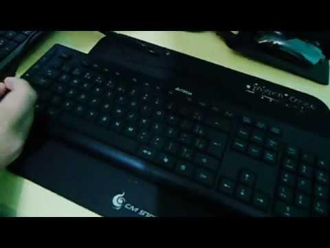 Unboxing A4Tech KD-600L Backlight keyboard