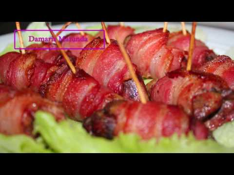 Tasty Chicken Livers In Bacon Wrap !!