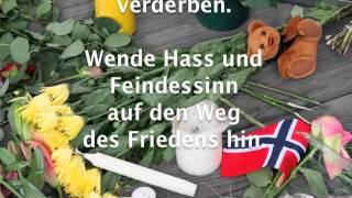 "Oslo: Choral ""Wende Hass und Feindessinn"""