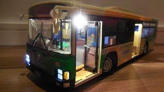 東京都交通局バス #3 [ ドア開閉 ] Metropolitan bus in Japan 1/32 R/C BUS [ AOSHIMA ]( バス ラジコン )