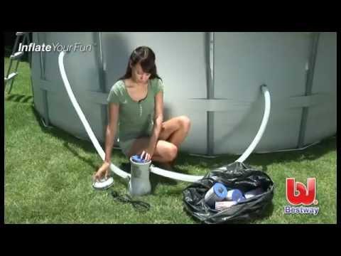 Depuradora de arena bestway youtube for Depuradora de arena para piscina