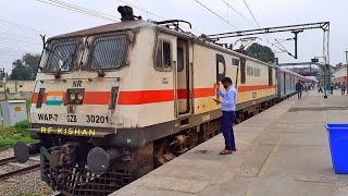 LHB MALWA EXPRESS DEPARTING FROM JALANDHAR CANTT RAILWAY STATION
