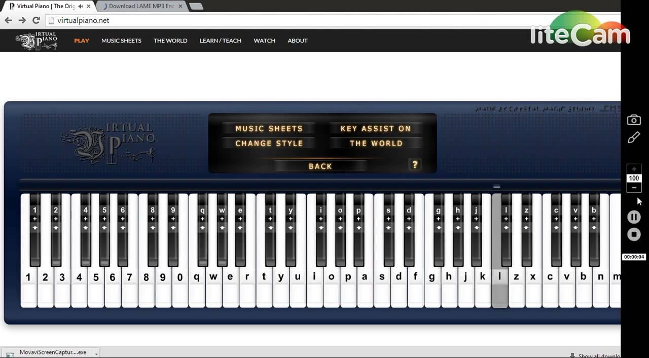 virtual piano - kaho na pyaar hai - YouTube