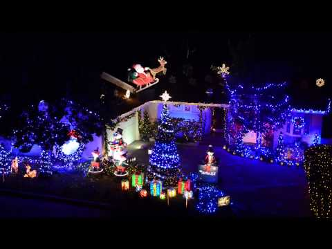 Lights On Display 2012 Christmas display Los Angeles, CA