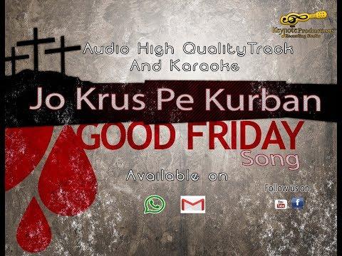 Jo krus Pe Kurban Karaoke/Track  ||Good Friday/ Lent Song||