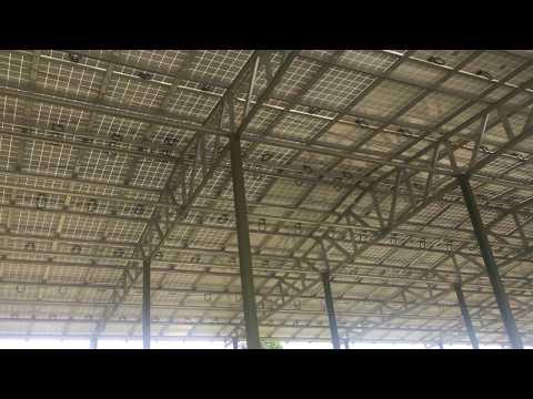 [Ennesa Puchong Solar Farm] Modules from the ground.