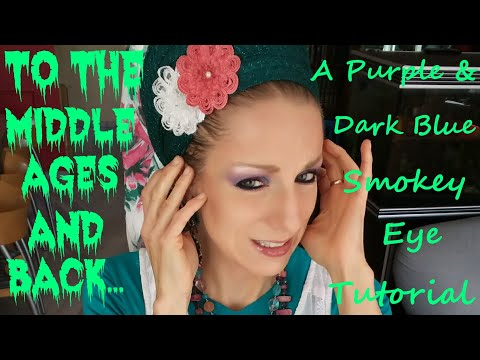 A Purple & Dark Blue Smokey Eye Tutorial (and what happened since my last upload 😌...)