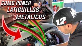 como cambiar latiguillos metálicos ¿frena mejor la moto?