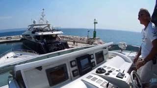 Docking Dominator 86 S yacht in windy weather,marina Lav,HR thumbnail