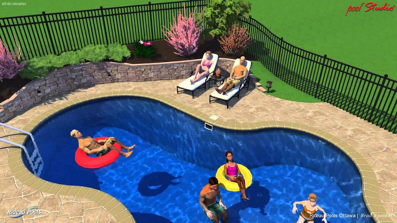 Rideau Pools Ottawa 3 D Design 14 X 30 Excelsior Pool