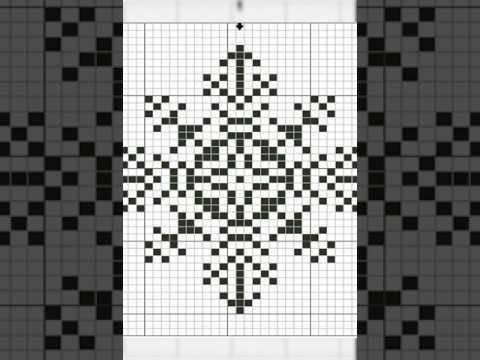 Вышивка снежинки крестом схема