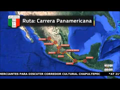 Consulta la ruta de la Carrera Panamericana