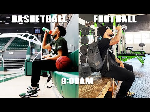 Day In The Life: D1 Football vs D1 Basketball