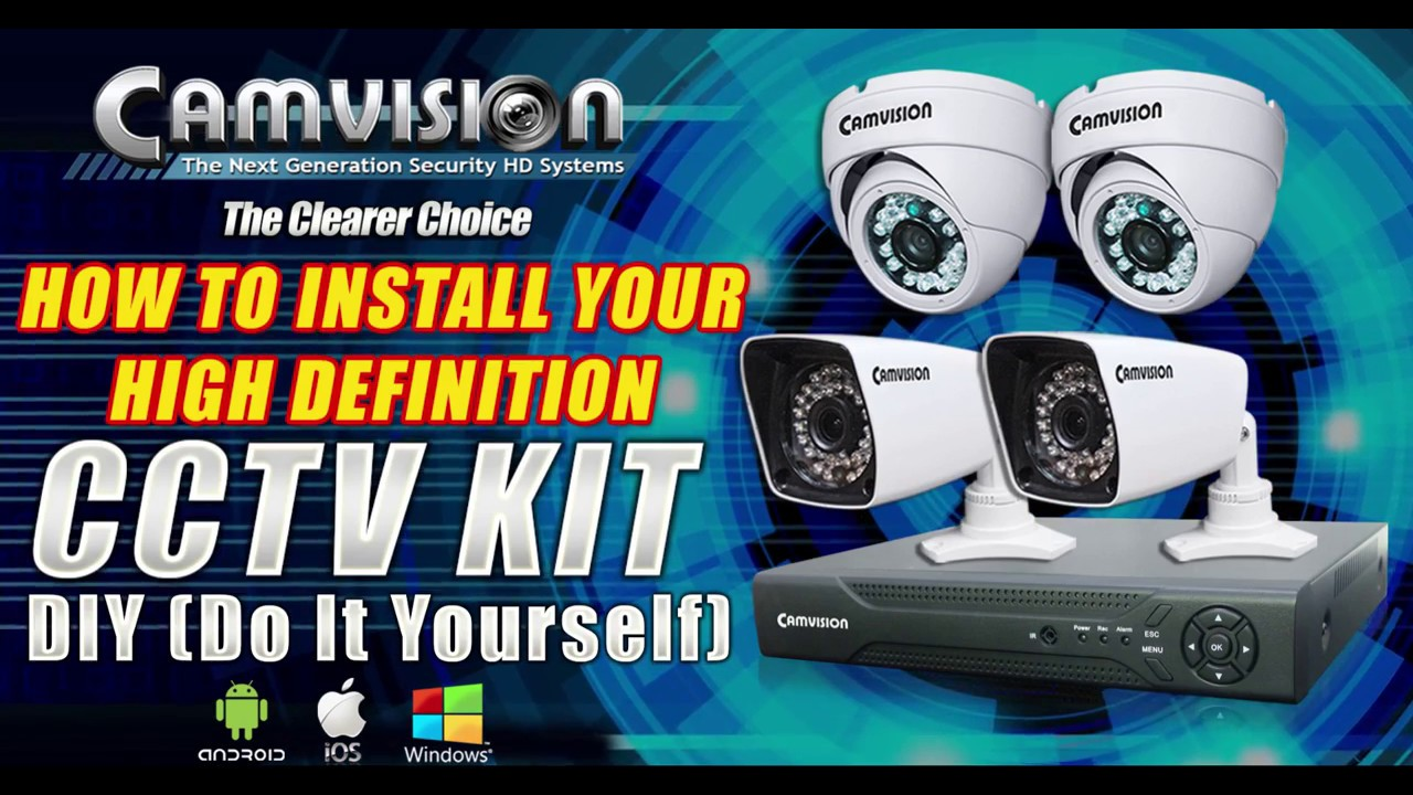 Camvision cctv kit ahd installation diy first time setup youtube camvision cctv kit ahd installation diy first time setup solutioingenieria Images