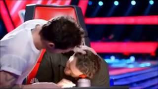 the voice blake shelton adam levine kiss shevine moments