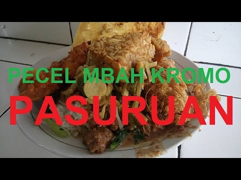 Wisata Kuliner Nasi Pecel Mbah Kromo Kota Pasuruan
