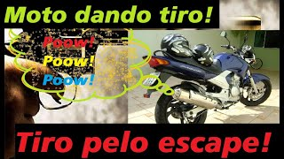 Fazer 250 E Lander Moto Dando Tiro Pelo Escapamento