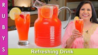 New! Refreshing Drink! Fancy, Low Cost Pink Lemonade for Iftar Recipe in Urdu Hindi - RKK