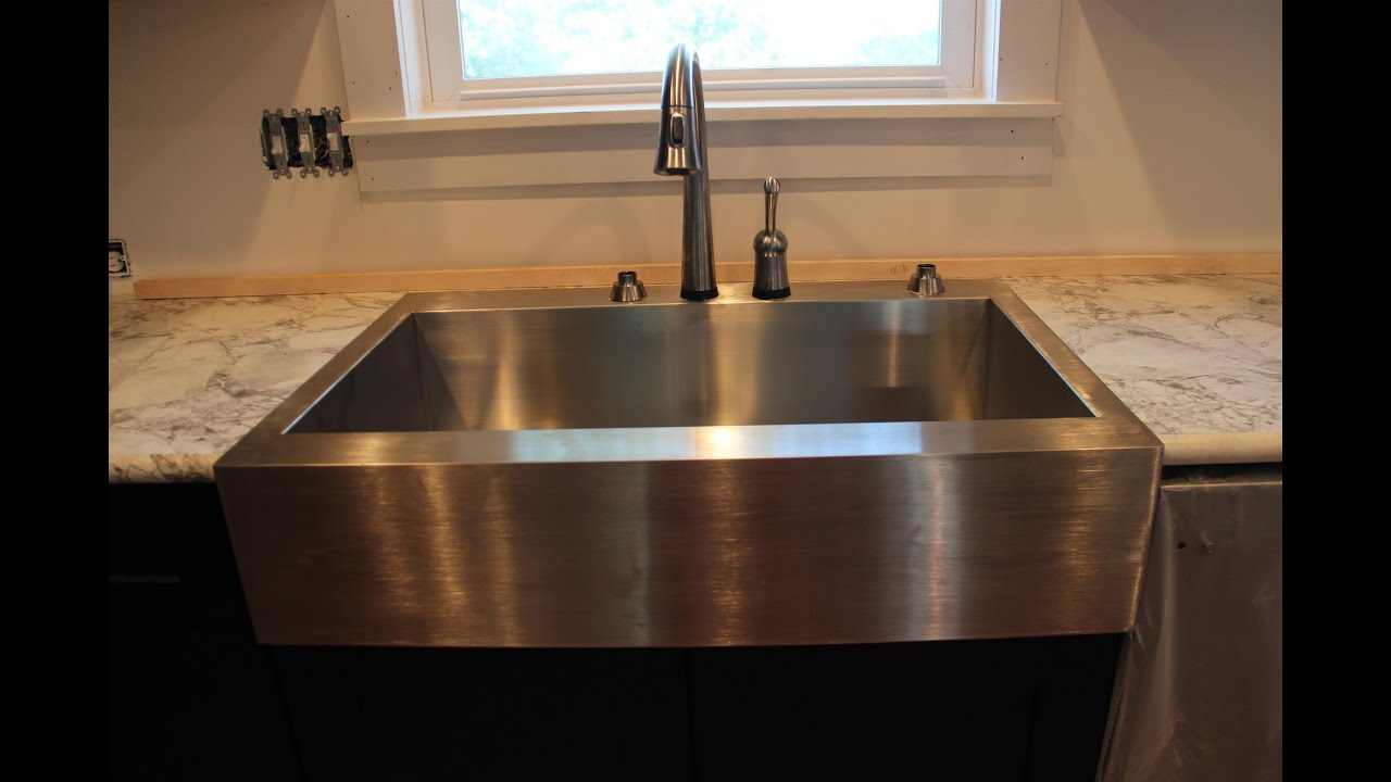 apron front farmhouse kitchen sinks - YouTube