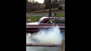1964 impala burn out