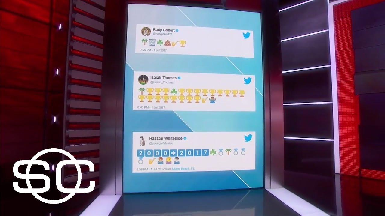 Emoji War Breaks Out Between Teams Chasing Hayward Sportscenter