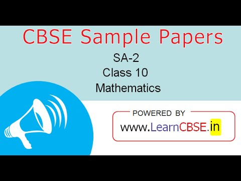 CBSE sample papers for Class 10 Maths SA2  Paper 2 Q17 to Q21 (Part 3)
