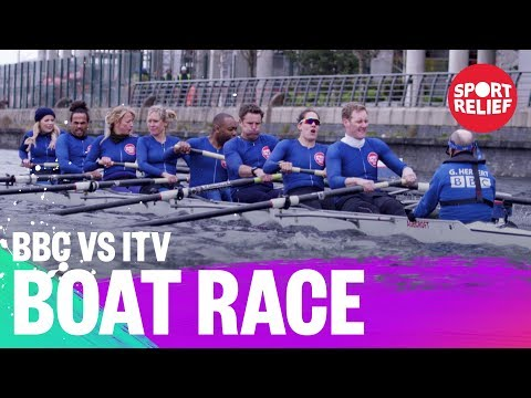 BBC vs ITV presenters boat race - Sport Relief 2018