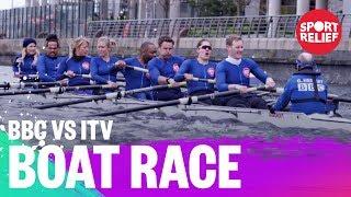 BBC vs ITV presenters boat race -  Sport Relief 2018 - BBC